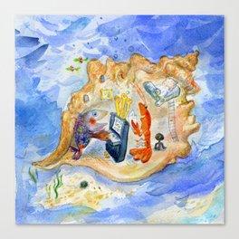 Music under the sea Canvas Print