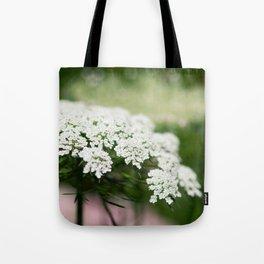 White Queen Ann's Lace Tote Bag
