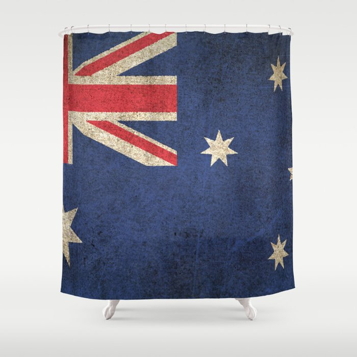 Old And Worn Distressed Vintage Flag Of Australia Shower Curtain