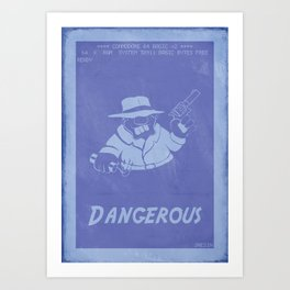 Retrogaming - Rick Dangerous Art Print