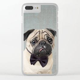 Mr Pug Clear iPhone Case