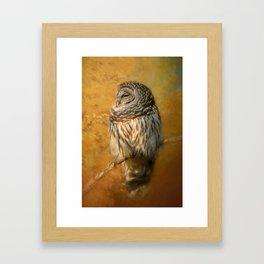 Ollie In Autumn Framed Art Print