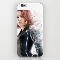 black widow iPhone & iPod Skins featuring Black Widow by NKlein Design