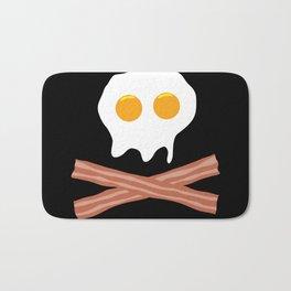 Eggs Bacon Skull Bath Mat