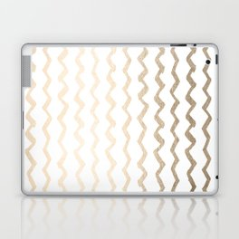 Golden Zigzag Laptop & iPad Skin