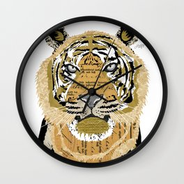 Tiger Collage Wall Clock