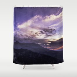 Mount St Helens at Sunset Shower Curtain