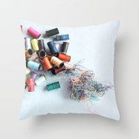 tangled Throw Pillows featuring Tangled by myhideaway