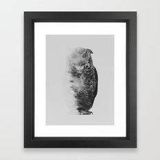 The Owl (black & white version) Framed Art Print