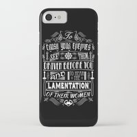 conan iPhone & iPod Cases featuring What is best in life... by Purple Cactus