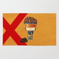 cyclops Area & Throw Rugs featuring Chibi Cyclops by artwaste