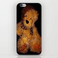 teddy bear iPhone & iPod Skins featuring Teddy by Doug McRae