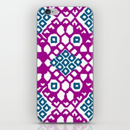 Purple Embroidery iPhone Skin
