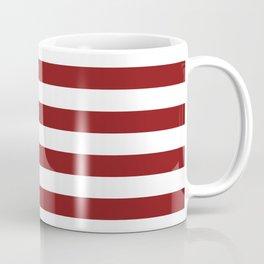 Ruby Horizontal Stripes Pattern Coffee Mug