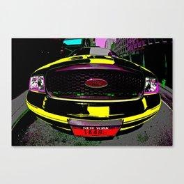 NYC Taxi Cab - BIG Yellow Canvas Print