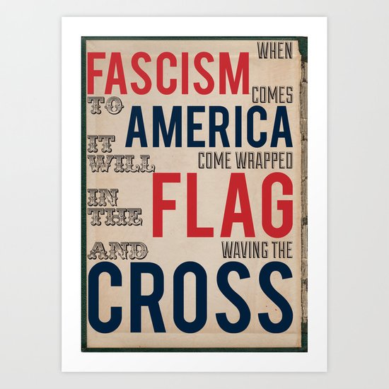 Fascism Art Print
