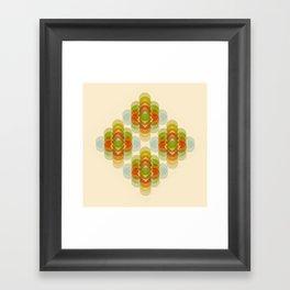 60's Pattern Framed Art Print
