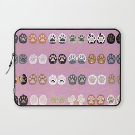 Toe Beans on Pink / Cat Paws Laptop Sleeve