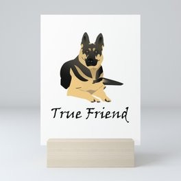 Lying German Shephard Dog is a True Friend Mini Art Print