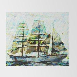 Coast Guards sailship Throw Blanket