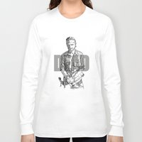 rick grimes Long Sleeve T-shirts featuring Rick Grimes The Walking Dead by Mark McKenny