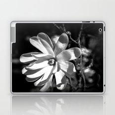 Monochrome Flower Study Laptop & iPad Skin