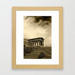 Penshaw monument in sepia Framed Art Print