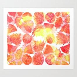 Tropical Fruit Print Art Print