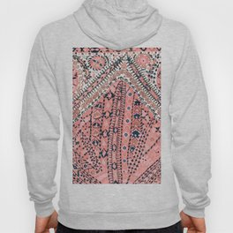 Light Pink Wildflower Sunshine III // 18th Century Colorful Pinkish Dusty Blue Gray Positive Pattern Hoody