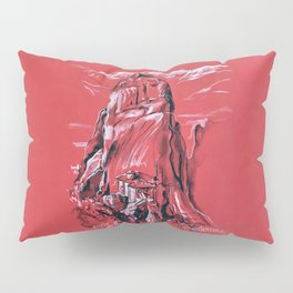 Meteora Rock Formation and Monastery in Greece Pillow Sham