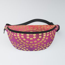 Summer Heat Geometric Pattern Fanny Pack
