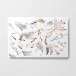 180630 Grey Black Brown Neutral Abstract Watercolour 10 | Watercolor Brush Strokes Metal Print