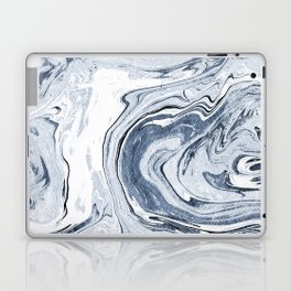 Kiyomi - spilled ink japanese monoprint marble paper marbling art print cell phone case with marble Laptop & iPad Skin