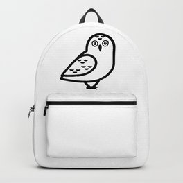 White Owl Icon Backpack