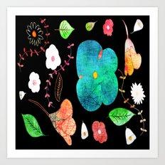 Japaneses midnight garden Art Print