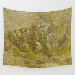 Quinces, Lemons, Pears and Grapes Wall Tapestry