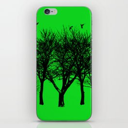 birds on the trees iPhone Skin