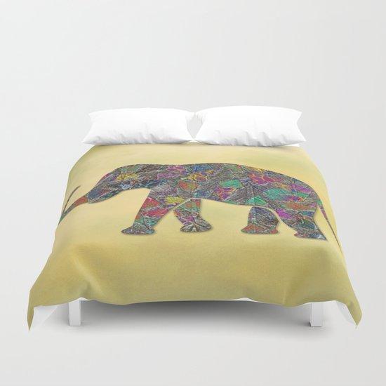 Animal Mosaic - The Elephant Duvet Cover