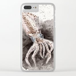 Squid ink and tentacles Clear iPhone Case