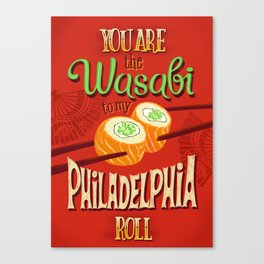 Funny wasabi illustration Canvas Print