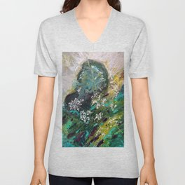 Abstract Expressions Nature Unisex V-Neck