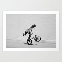 Flatland BMX Rider Art Print