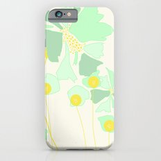 Minty Flowers iPhone 6s Slim Case