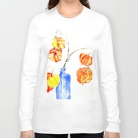 lanterns Long Sleeve T-shirts featuring Chinese Lanterns by Kate Havekost Fine Art