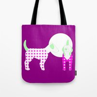 puppies Tote Bags featuring Puppies by Silja Rouvinen