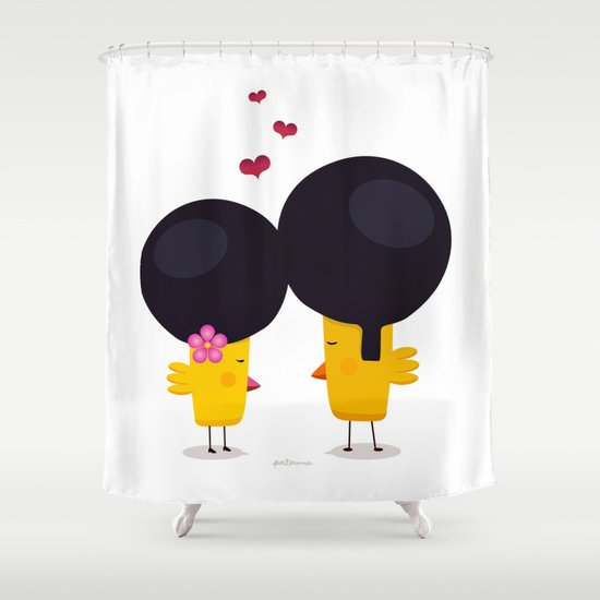 Afro Love Shower Curtain by Piktorama   Society6