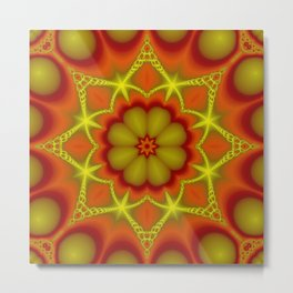 Mandala autumntime Metal Print
