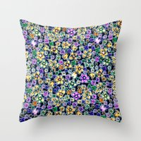 flora Throw Pillows featuring Flora by BellagioVista