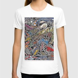 Prawns, gambas and shrimps for ocean lovers, marine biologists and scuba divers T-shirt