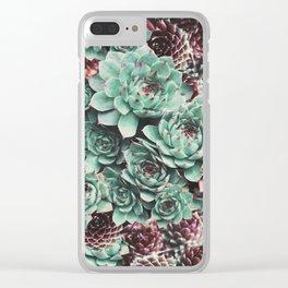 Succulent Sempervivum Plants Clear iPhone Case
